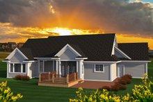 Dream House Plan - Ranch Exterior - Rear Elevation Plan #70-1193