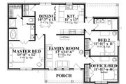 Traditional Style House Plan - 3 Beds 2 Baths 1442 Sq/Ft Plan #63-313 Floor Plan - Main Floor Plan