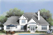 House Plan Design - European Exterior - Rear Elevation Plan #929-816