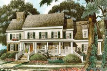 House Plan Design - Country Exterior - Front Elevation Plan #429-342
