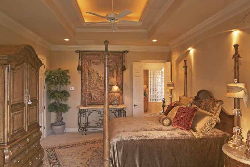 Mediterranean Interior - Master Bedroom Plan #952-196 - Houseplans.com