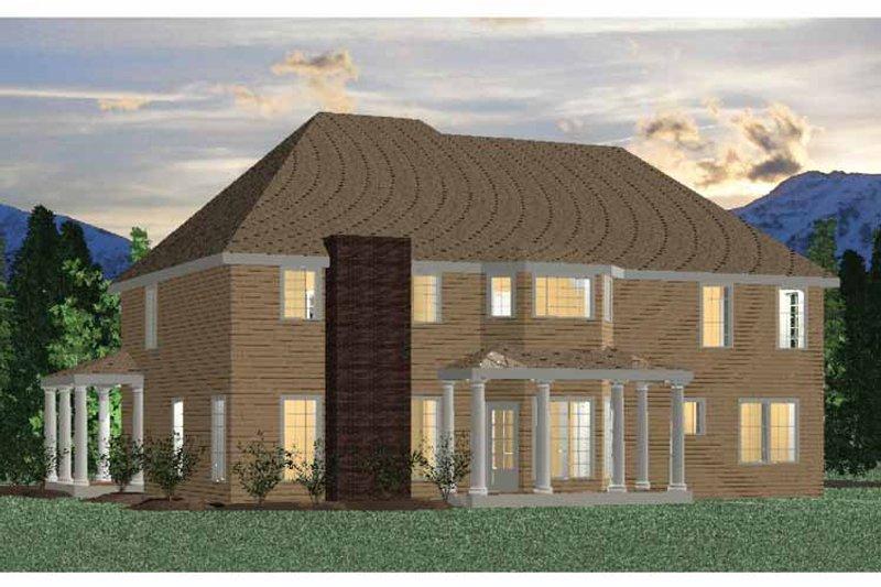 Traditional Exterior - Rear Elevation Plan #937-22 - Houseplans.com