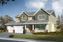 Dream House Plan - Craftsman Exterior - Front Elevation Plan #569-22