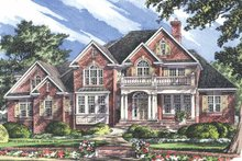 Dream House Plan - Traditional Exterior - Front Elevation Plan #929-696