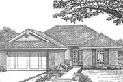 Traditional Style House Plan - 3 Beds 2 Baths 1319 Sq/Ft Plan #310-413 Exterior - Front Elevation