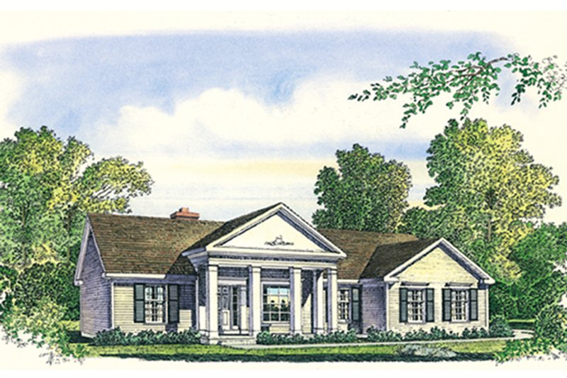 Architectural House Design - Classical Exterior - Front Elevation Plan #1016-11