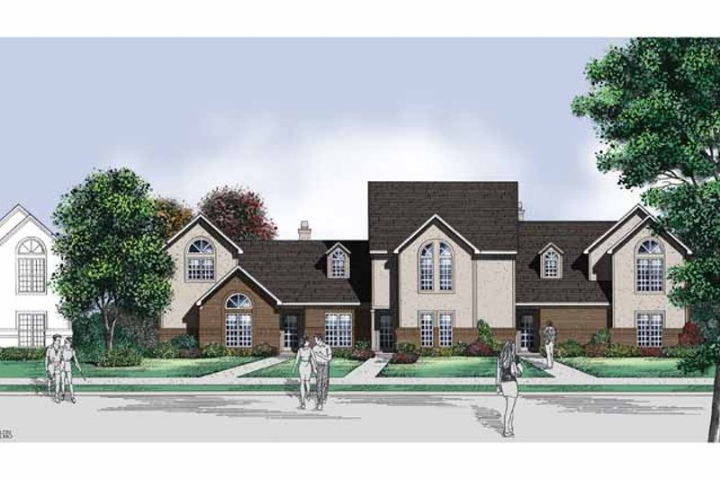 Architectural House Design - Traditional Exterior - Front Elevation Plan #45-425