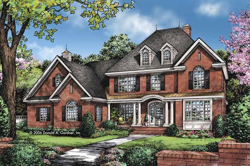 Traditional Exterior - Front Elevation Plan #929-828 - Houseplans.com