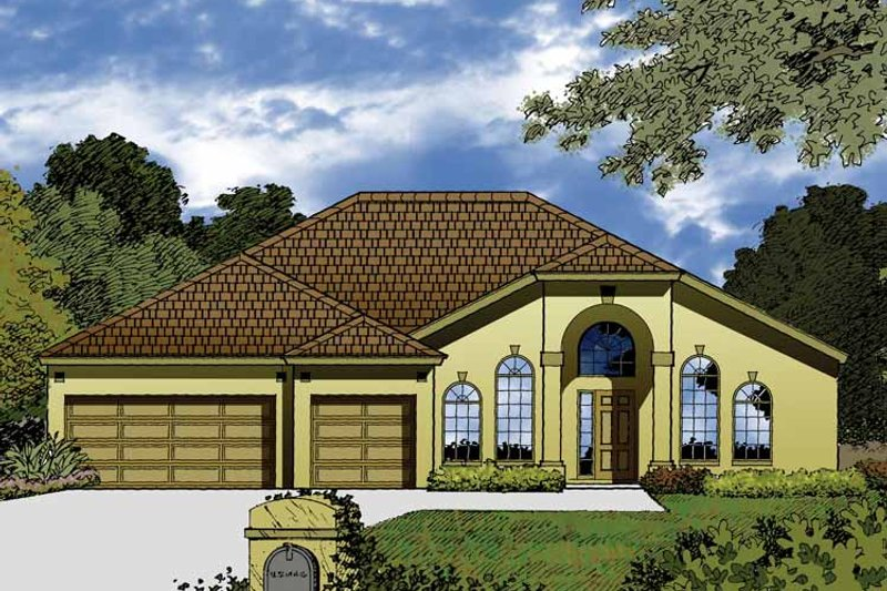 Contemporary Exterior - Front Elevation Plan #1015-46 - Houseplans.com