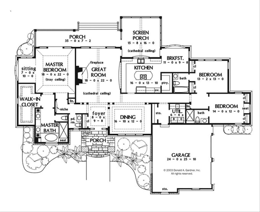 European style house plan 3 beds 3 5 baths 2866 sq ft for Dream kitchen floor plans