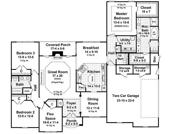 European Floor Plan - Main Floor Plan Plan #21-223