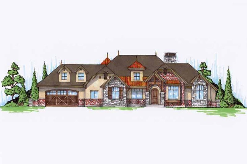 Craftsman Exterior - Front Elevation Plan #945-68