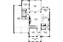 Mediterranean Floor Plan - Main Floor Plan Plan #1058-131