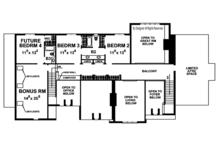 European Floor Plan - Upper Floor Plan Plan #20-2246