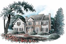 Home Plan Design - Colonial Exterior - Front Elevation Plan #429-90