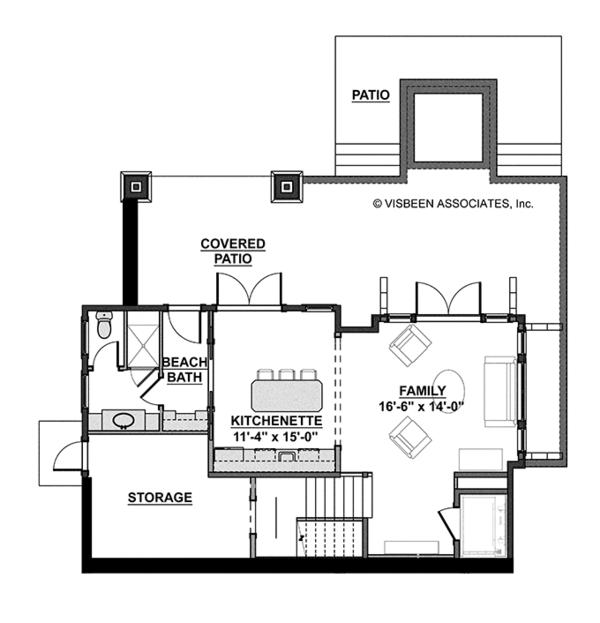 House Plan Design - Craftsman Floor Plan - Lower Floor Plan #928-268