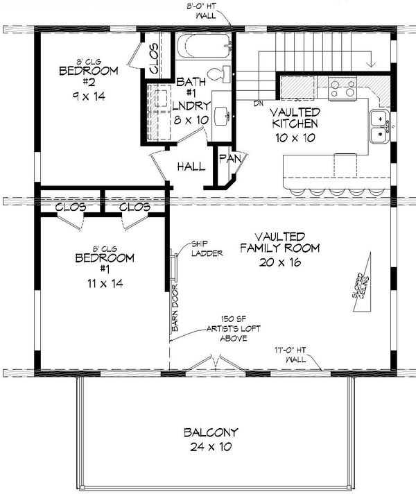 Modern Floor Plan - Main Floor Plan Plan #932-42