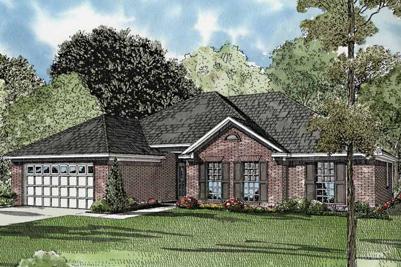Ranch Exterior - Front Elevation Plan #17-3245 - Houseplans.com