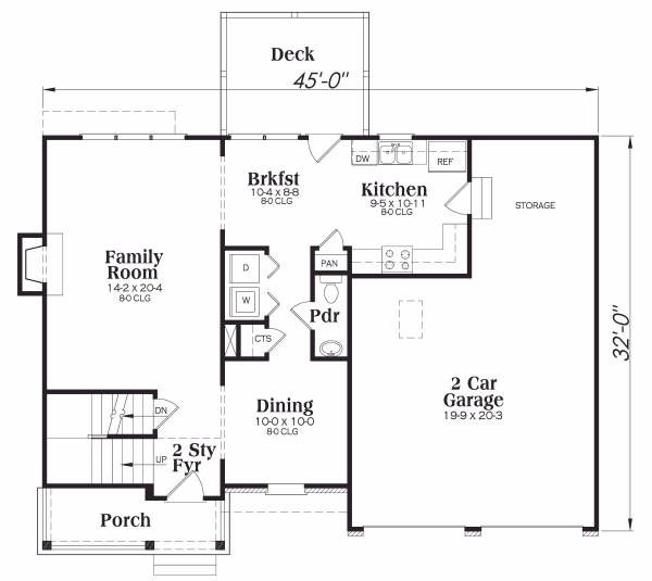 Craftsman Floor Plan - Main Floor Plan Plan #419-122