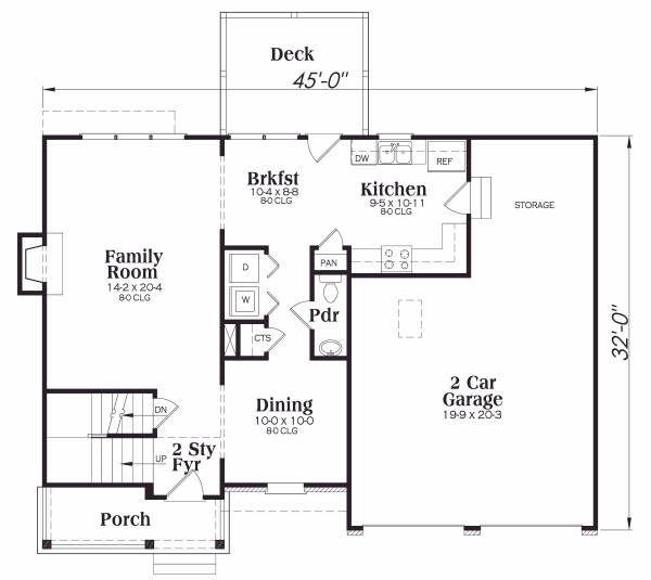 Craftsman Floor Plan - Main Floor Plan #419-122