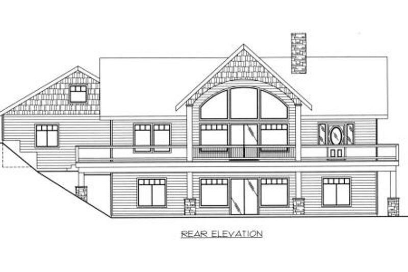 Ranch Exterior - Rear Elevation Plan #117-561 - Houseplans.com