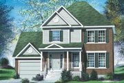 European Style House Plan - 3 Beds 1.5 Baths 1393 Sq/Ft Plan #25-4159 Exterior - Front Elevation