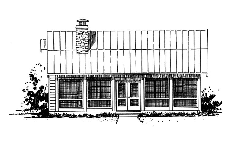 Cabin Exterior - Front Elevation Plan #942-34 - Houseplans.com
