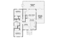 Craftsman Floor Plan - Main Floor Plan Plan #17-3370