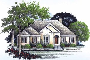 Country Exterior - Front Elevation Plan #429-77