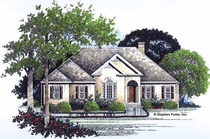 House Plan Design - Country Exterior - Front Elevation Plan #429-77