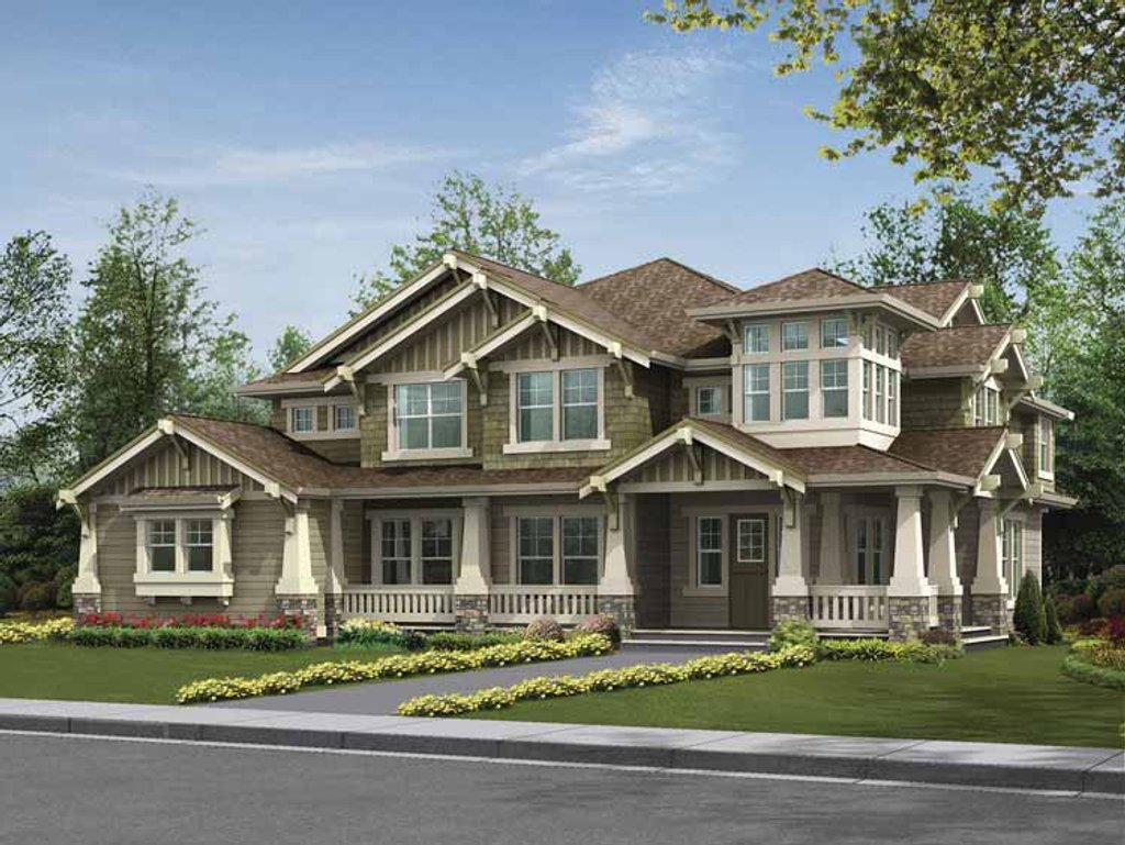 Craftsman style house plan 5 beds 4 baths 4385 sq ft for Www eplans com