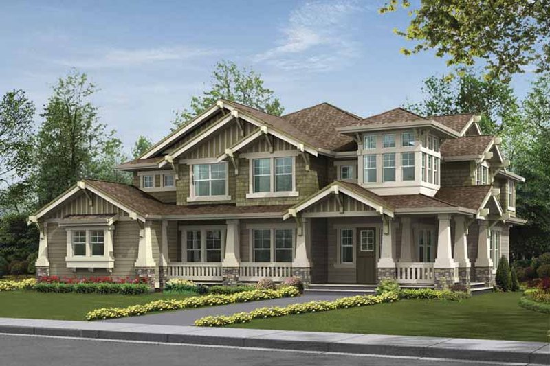 Home Plan - Craftsman Exterior - Front Elevation Plan #132-495