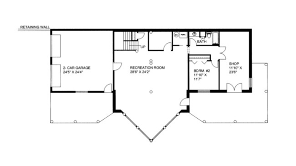 Log Floor Plan - Lower Floor Plan Plan #117-823