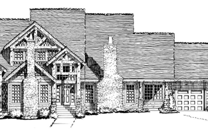 Craftsman Exterior - Front Elevation Plan #942-12 - Houseplans.com
