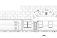 Cottage Exterior - Rear Elevation Plan #513-2091
