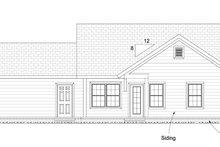 Cottage Exterior - Rear Elevation Plan #513-2091