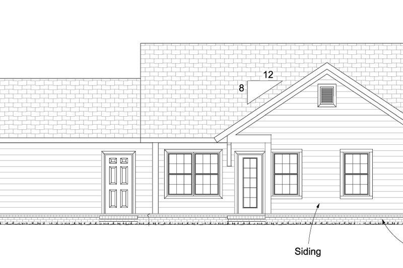 Cottage Exterior - Rear Elevation Plan #513-2091 - Houseplans.com