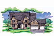 Architectural House Design - Colonial Exterior - Front Elevation Plan #51-1007