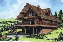 Dream House Plan - Contemporary Exterior - Front Elevation Plan #320-762