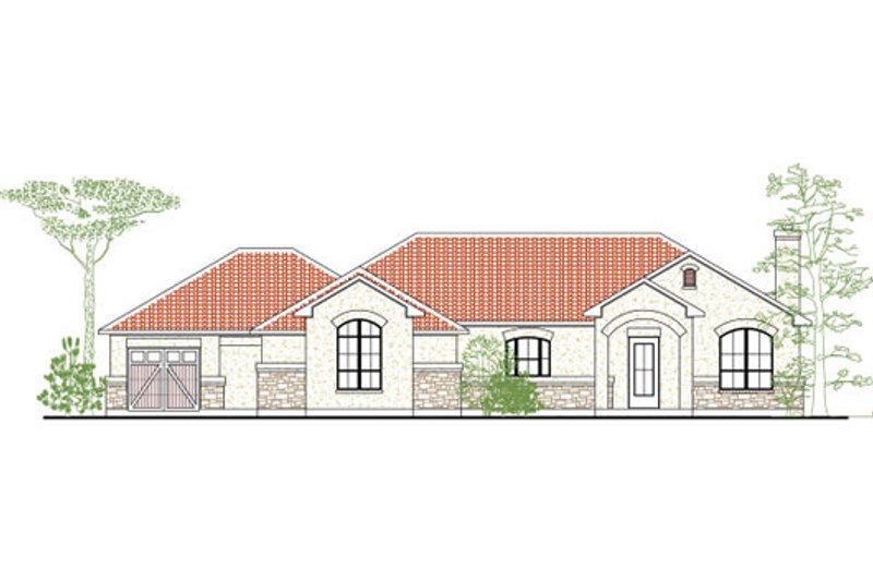 European Exterior - Front Elevation Plan #80-183