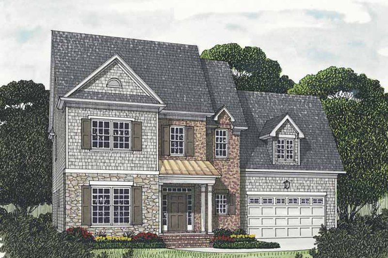 Architectural House Design - Traditional Exterior - Front Elevation Plan #453-541