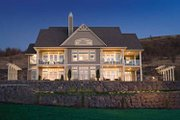 Craftsman Style House Plan - 4 Beds 3 Baths 2956 Sq/Ft Plan #929-872 Exterior - Rear Elevation