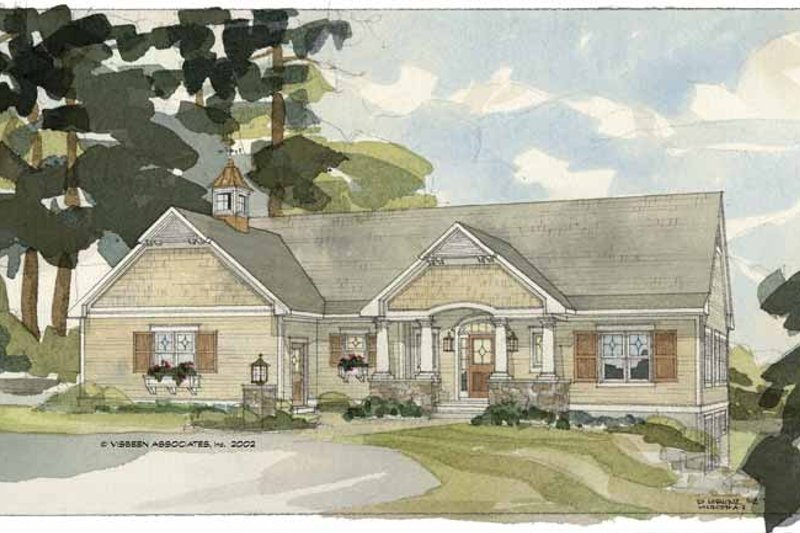 Country Exterior - Front Elevation Plan #928-86