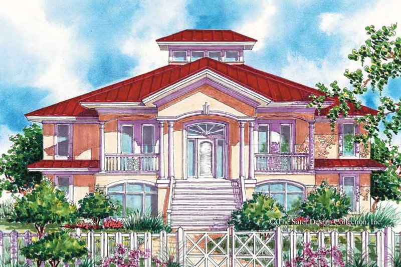 Dream House Plan - Country Exterior - Front Elevation Plan #930-67