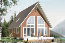 Cabin Exterior - Front Elevation Plan #23-501
