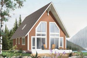 Cabin Exterior - Front Elevation Plan #23-501
