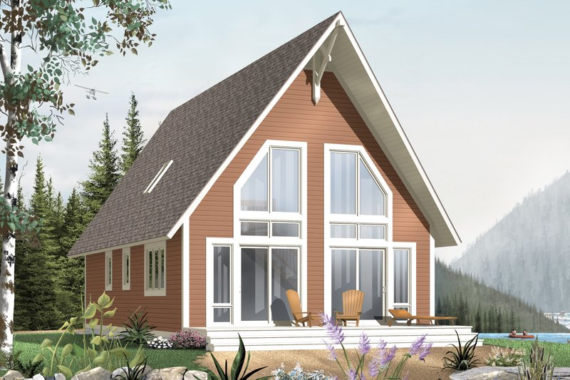 Home Plan - Cabin Exterior - Front Elevation Plan #23-501