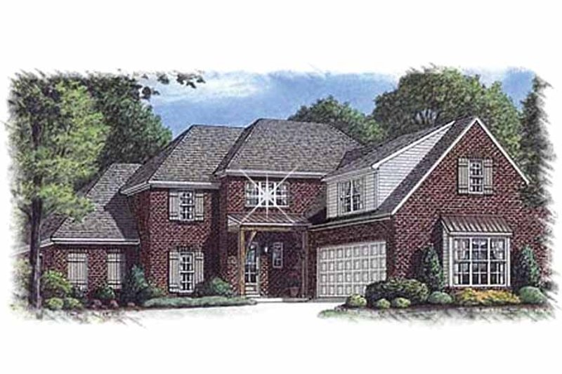 Traditional Exterior - Front Elevation Plan #15-389 - Houseplans.com