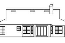 House Plan Design - Mediterranean Exterior - Rear Elevation Plan #999-29