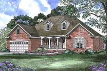 Home Plan - Country Exterior - Front Elevation Plan #17-2797